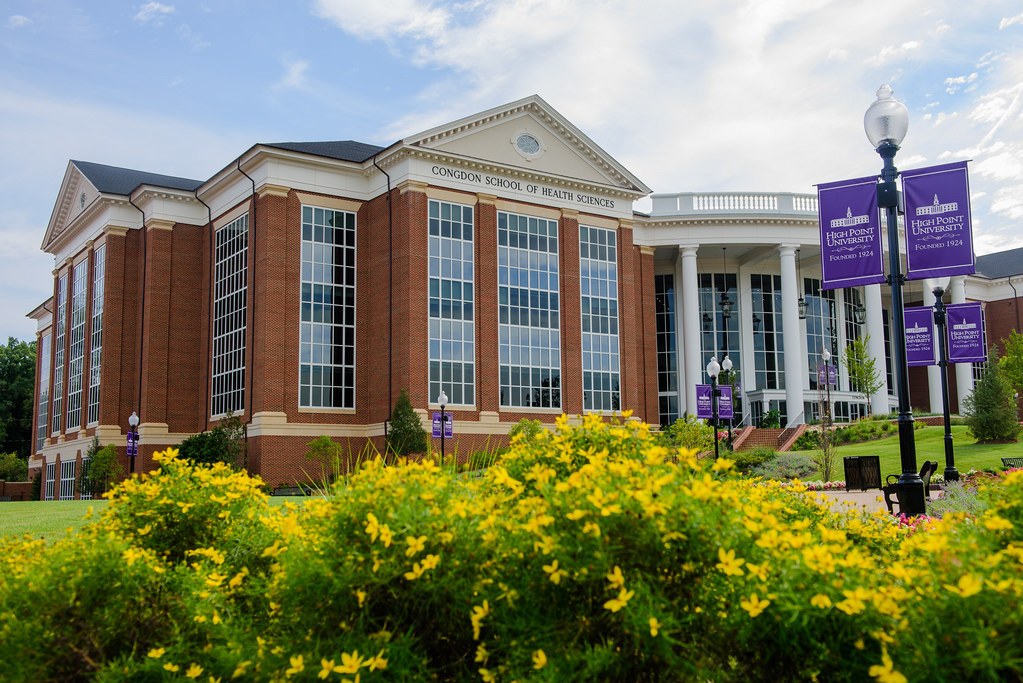 The High Point University Congdon School of Health Sciences building.