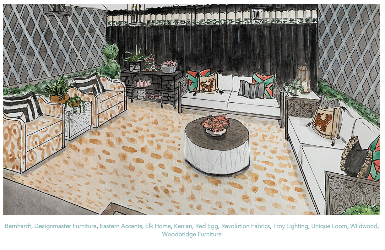 Dwell by Cheryl Interiors inspires an outdoor space that is full of beautiful fabrics and furniture that make even the outdoors as cozy as the indoor spaces we love!