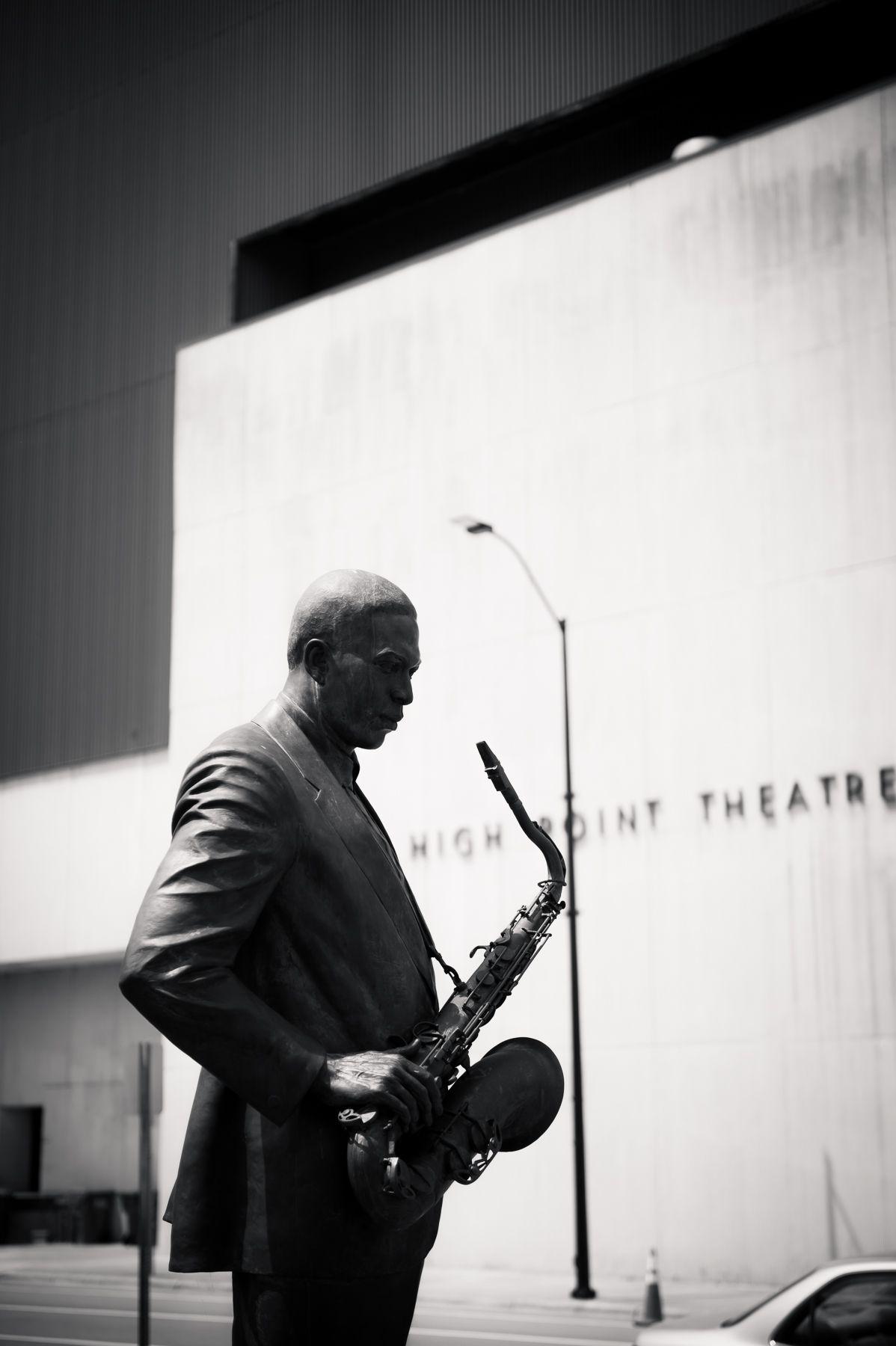 John Coltrane statue in High Point, NC.