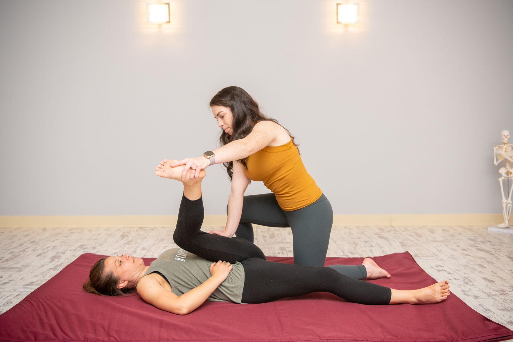 Caitlyn gives a Thai massage at Willow Wellness Center.